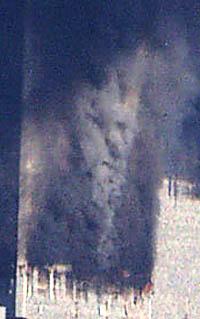 devil face in the WTC smoke